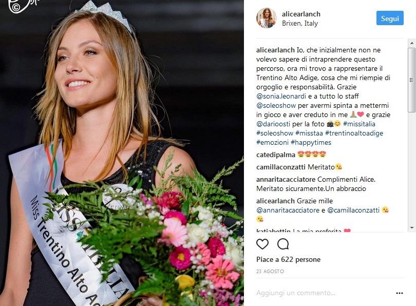 Miss Italia. Assegnate le fasce di Miss Coraggio e Miss Talento