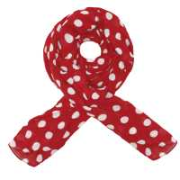 Foulard in cotone a pois