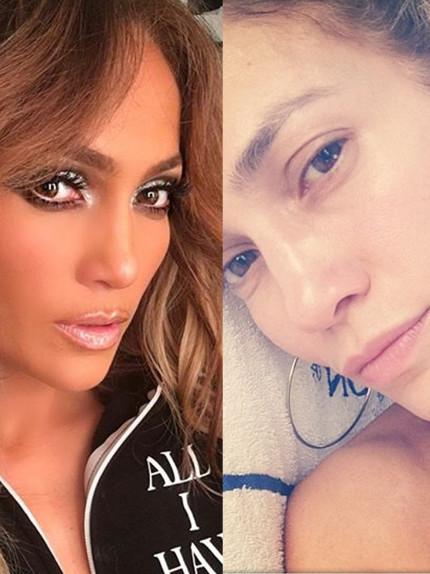 Jennifer Lopez in versione struccatissima