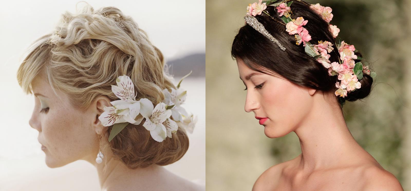 Fiore Matrimonio Uomo : Acconciature floreali per la sposa primavera glamour