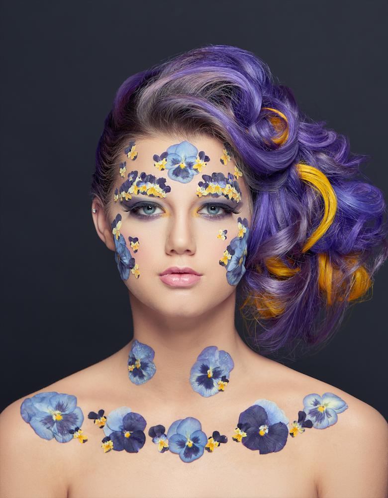 beauty look in 3D melania migliozzi