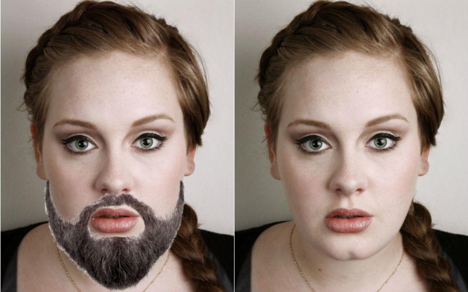 Viva la sincerità. Adele confessa di avere la barba