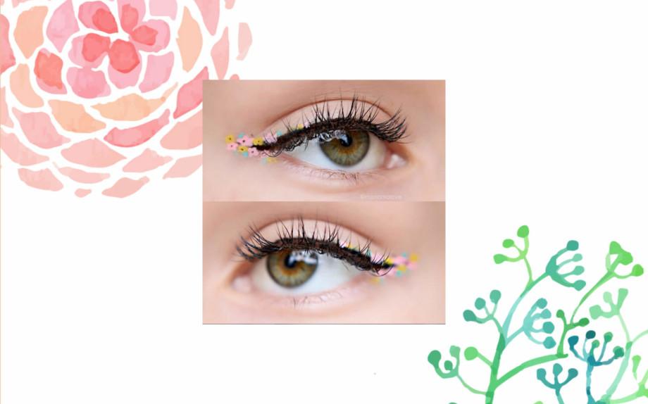 trucco eyeliner a fiori