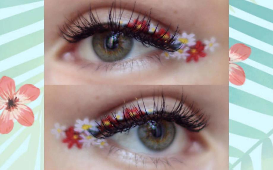 make up eyeliner a fiori