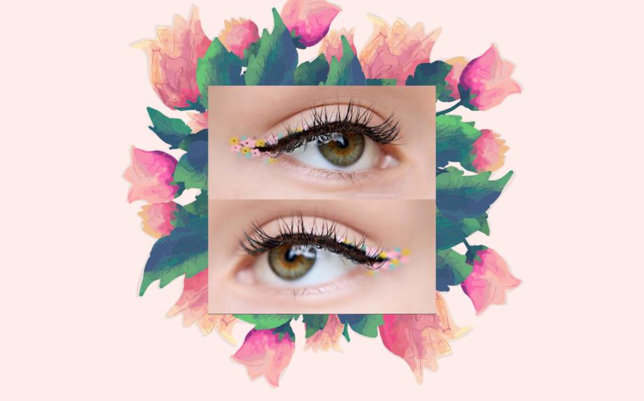 l'eyeliner a fiori