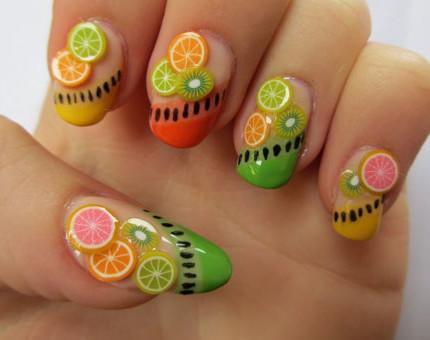 Idee-nail-art-design-frutta-2015-primavera-estate