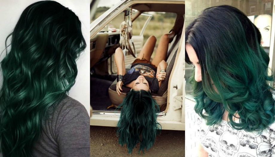 black green hair