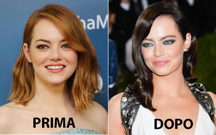 Copia il look: il nuovo castano di Emma Stone