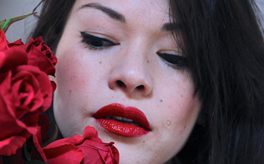 nayla C red lipstick