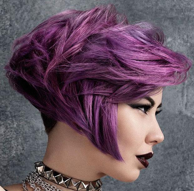 Capelli Colorati Blu E Viola  Tendenze colore capelli viola rosa blu ... 32a8874fb82f