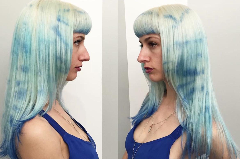 Nuovo trend capelli shibori hair - Tie and dye colore ...