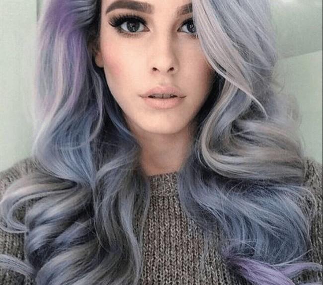 smokey lilac capelli da granny a lilla