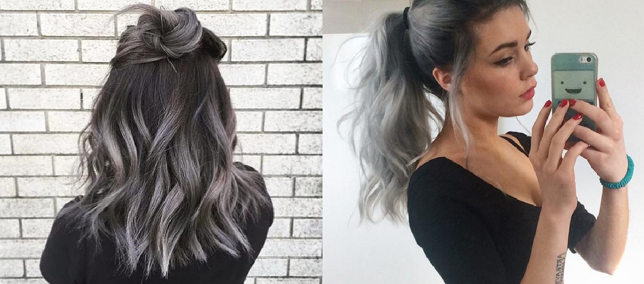 Grey ombre hair il colore capelli dell 39 autunno - Bagno di colore grigio capelli ...