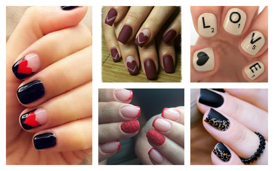nail art ideas romantic evening Glamour
