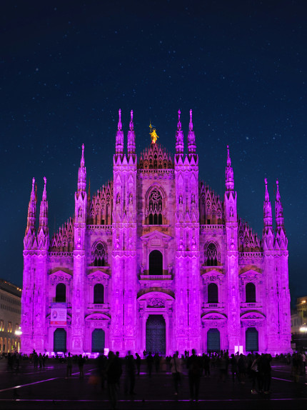 Il Duomo in rosa per la salute del seno