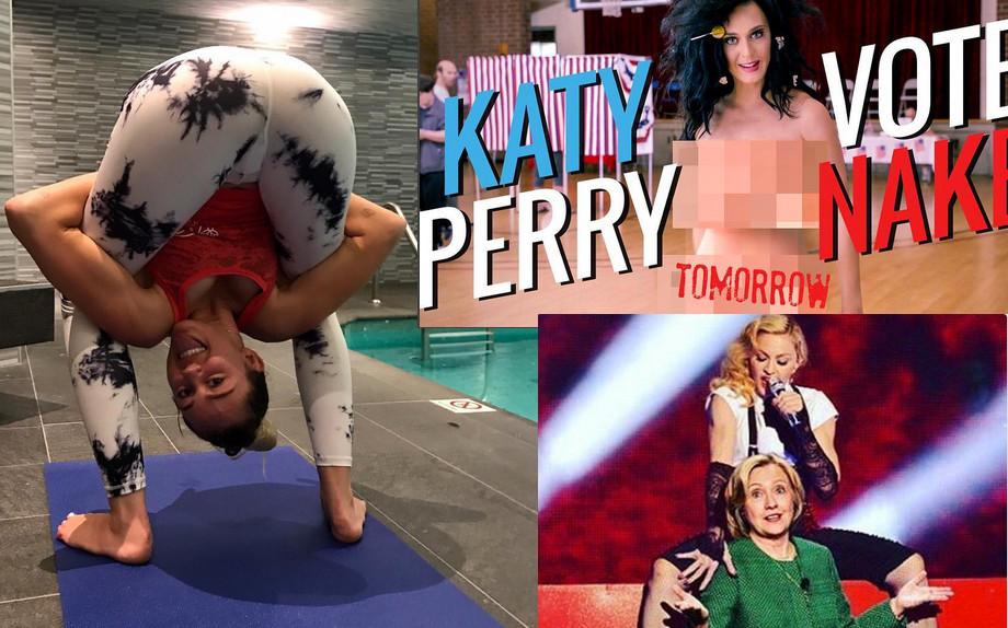 L'ultima provocazione pro Hillary Clinton è di Miley Cyrus: vota o kiss my a**