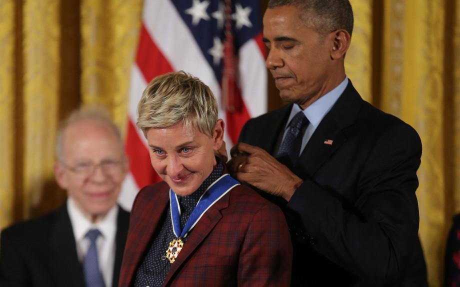Ellen DeGeneres, una medaglia al coraggio di sfidare i pregiudizi