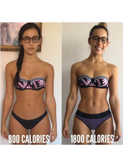 Ecco come è cambiato il corpo di questa ragazza aggiungendo calorie alla dieta
