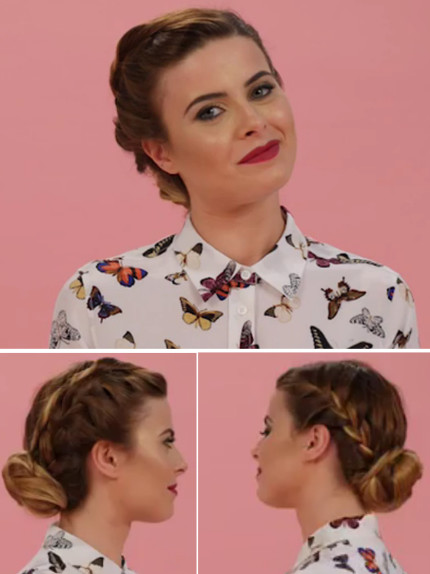 Acconciature capelli: crea il braided chignon con l'aiuto di un'amica