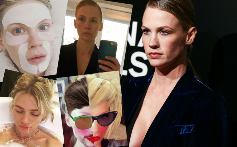 Auguri January Jones, la beauty e selfie addicted più ironica del web