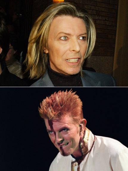 Capelli glam rock come David Bowie
