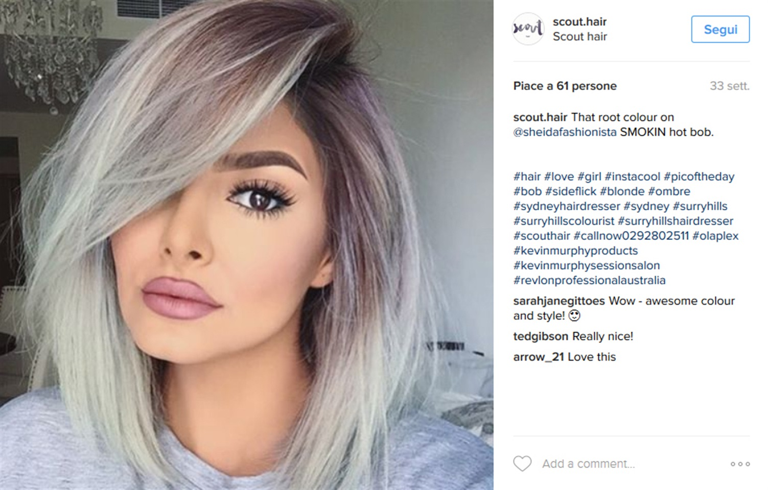 tagli  capelli autunno  il ciuffo laterale glamourit