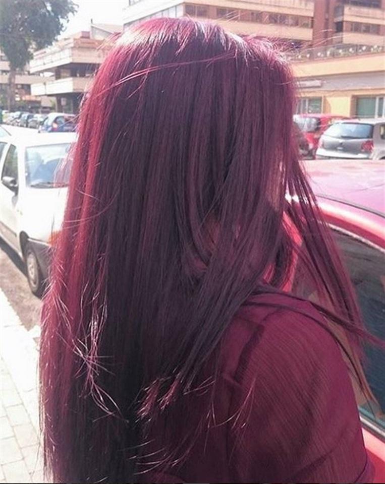 Colore capelli rosso borgogna