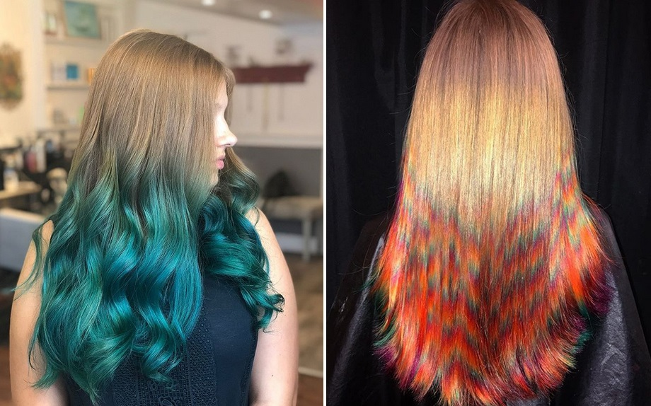 tecnica di schiaritura capelli dip dye hair