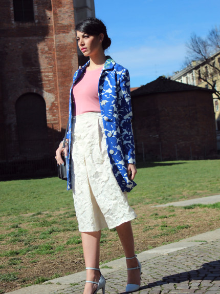 total look Desigual Coat, Kor@Kor Skirt