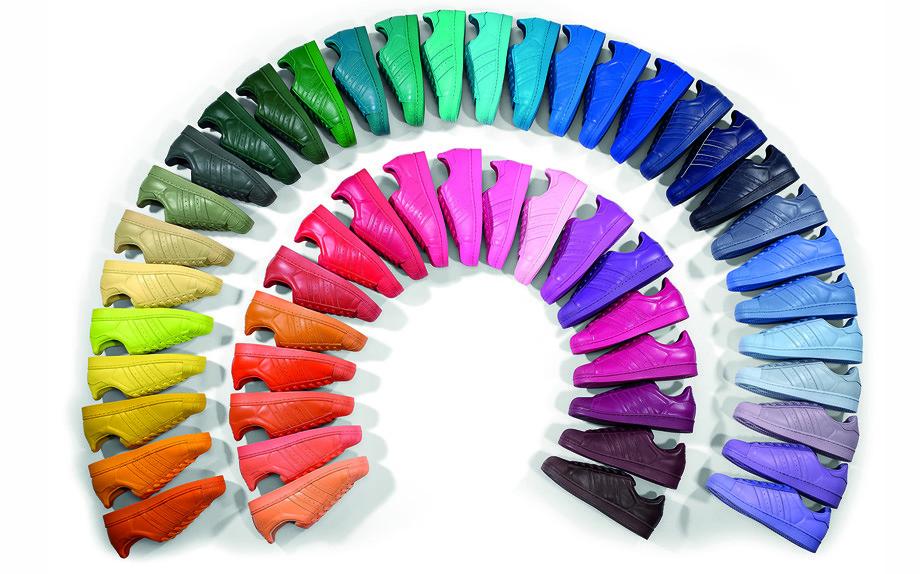 adidas spruzzi di colore