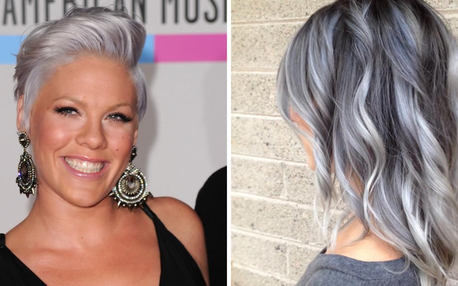 Gi tendenza granny hair - Bagno di colore grigio capelli ...