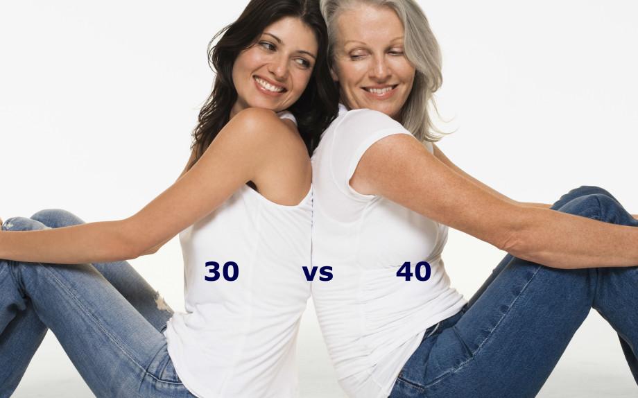 30 vs 40: a ogni età i suoi piaceri (e le sue creme)