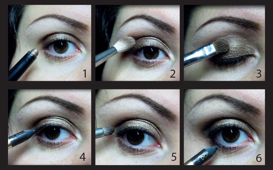 Smokey eyes marrone/bronzo