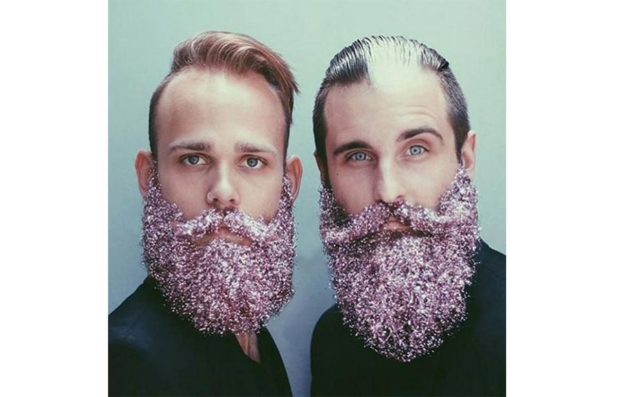 glitter on beard