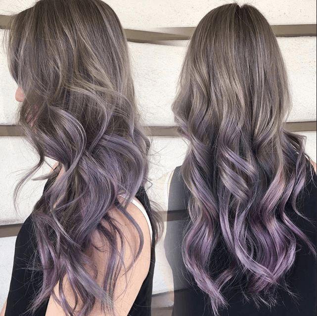 Dark red purple brown hair