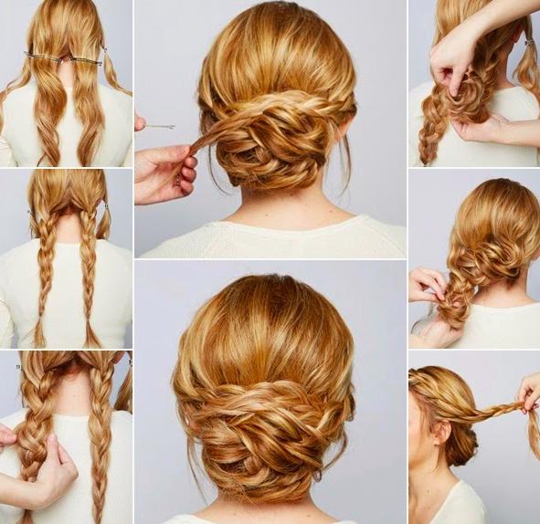 Acconciature veloci capelli lunghi lisci