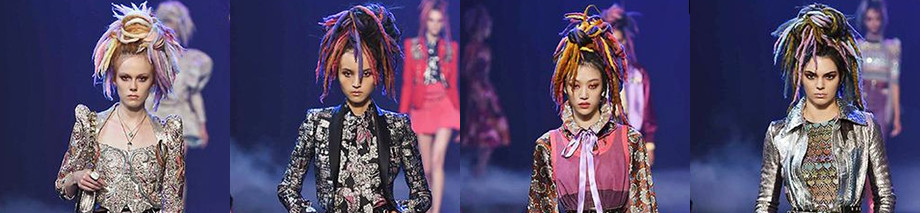 Hairstyle Marc Jacobs ss17 dreadlocks