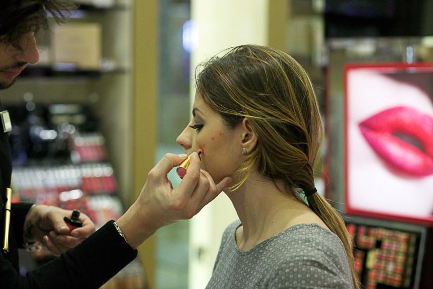 ysl make up session , giulia napoli, valter gazzano, beauty