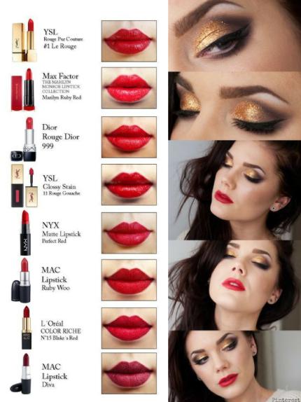 xmas red lips 4