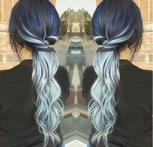 denim hair, trend, hair color, hair trend 2017