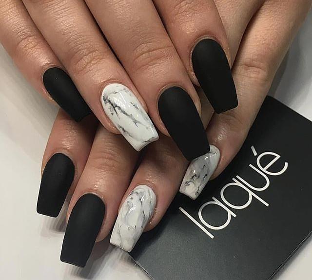 La Tendenza Unghie 2017 La Matte Marble Nails Glamour It