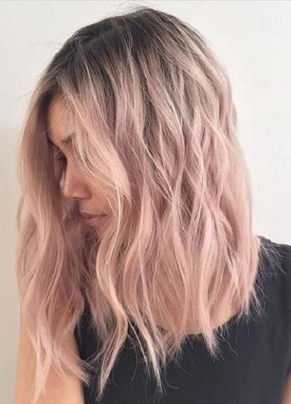 Colore rosa pastello capelli