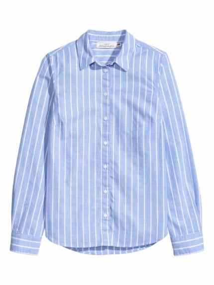 Hm propone una versione classica della camicia rigata