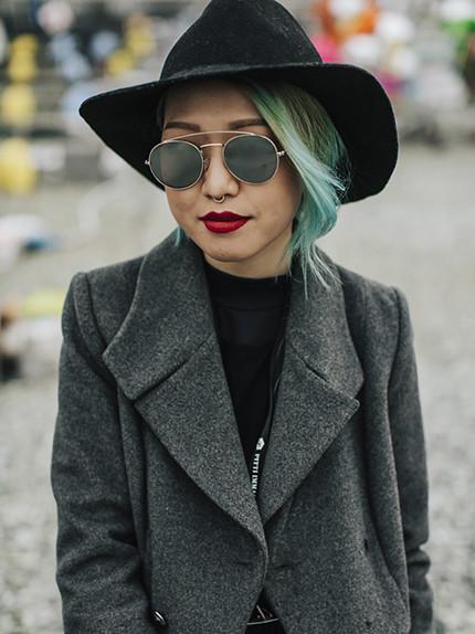 Capelli colorati: I toni top della primavera 2017-capelli azzurri