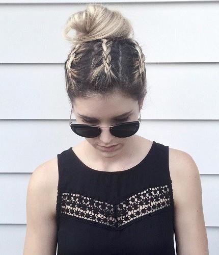 capelli lunghi raccolti