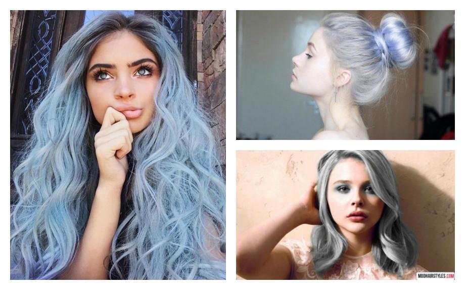 capelli azzurri colore moda 2017 ashen blue