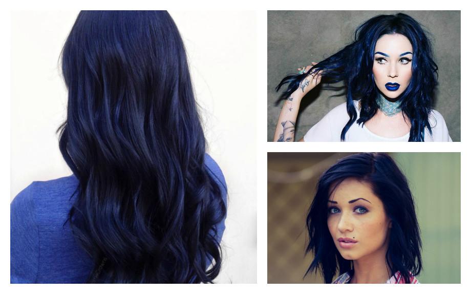 capelli azzurri colore moda 2017 blue black