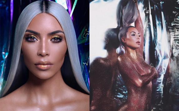 Kim Kardashian lancia il nuovo prodotto della sua linea KKW Beauty che dedica al marito Kanye West
