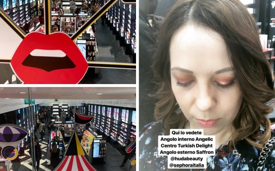 Mi hai visto su Instagram Stories durante l'inaugurazione del nuovo store Sephora di Roma in Via del Corso con un make-up  occhi completo con la Desert Dusk