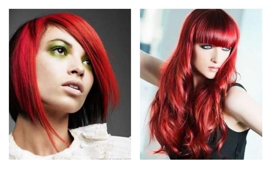 Taglio capelli corti rossi 2019